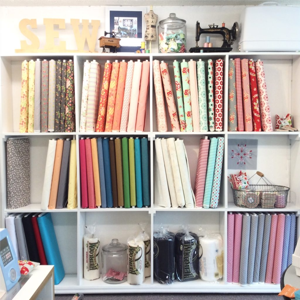 fabric wall at Sew Simple of Lynchburg