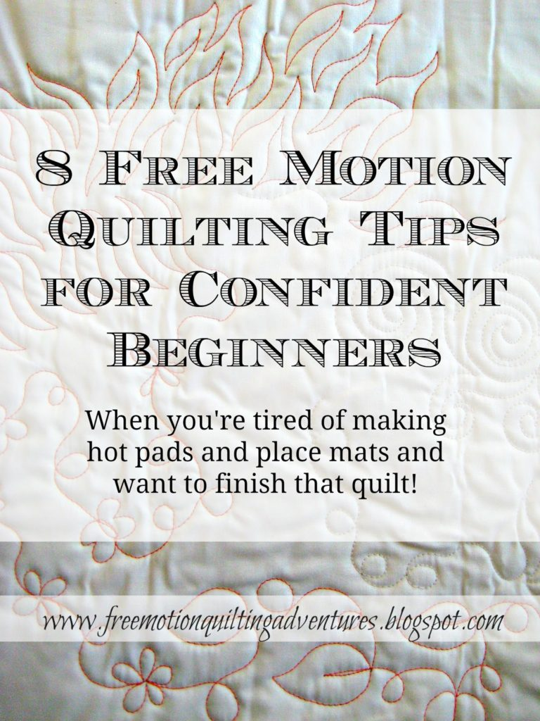 tips for free motion quilting