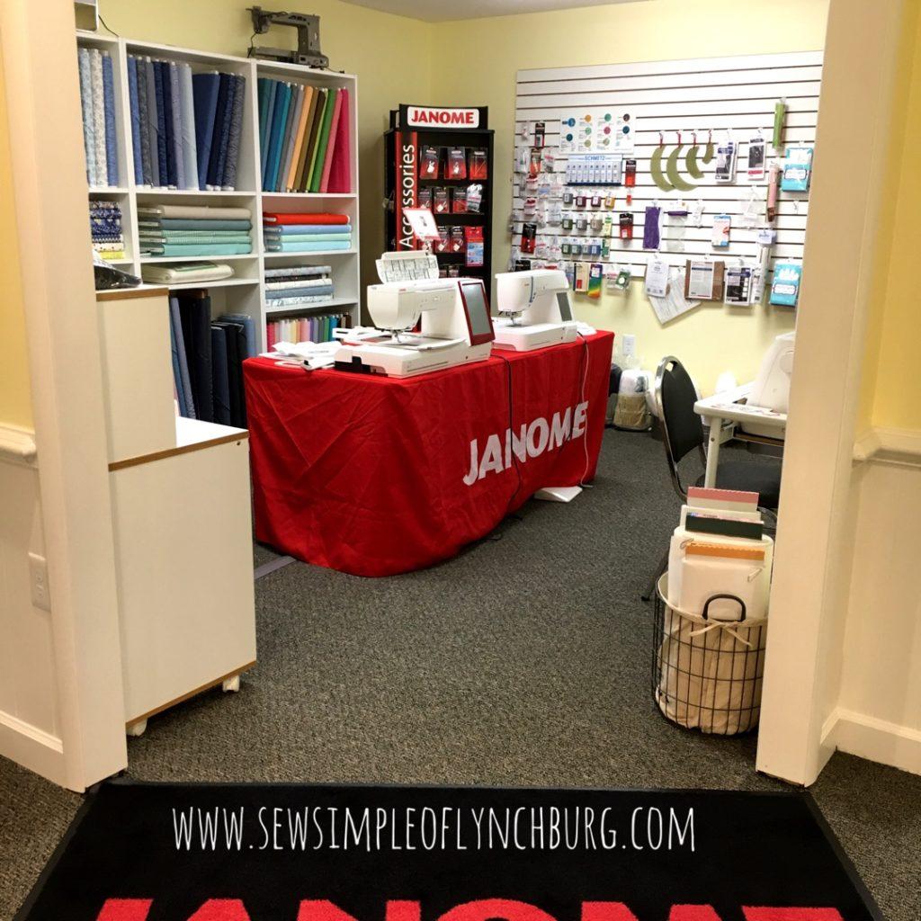 Sew Simple Janome machines