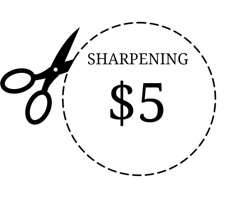 scissor sharpening $5 pair
